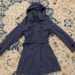 Polka dot trench coat